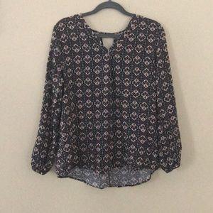 Boho long sleeve blouse